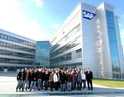 Ansbach students at SAP AG